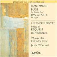 Cover of GAW21017 - Martin: Mass; Pizzetti: Messa di Requiem