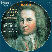Cover of CDD22025 - Bach: Sonatas for violin and harpsichord
