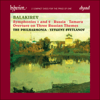 Cover of CDD22030 - Balakirev: Symphonies & Symphonic Poems