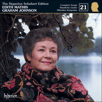 Cover of CDJ33021 - Schubert: The Hyperion Schubert Edition, Vol. 21 � Edith Mathis