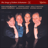 Cover of CDJ33106 - Schumann: The Complete Songs, Vol. 6 � Geraldine McGreevy, Stella Doufexis, Adrian Thompson & Stephan Loges