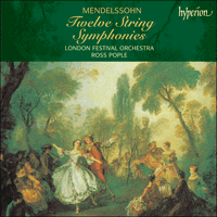 Cover of CDS44081/3 - Mendelssohn: Twelve String Symphonies