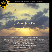 Cover of CDH55008 - Music for oboe