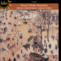 Cover of CDH55030 - Faur�: Violin Sonatas