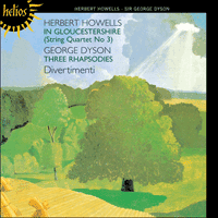 Cover of CDH55045 - Howells: In Gloucestershire; Dyson: Three Rhapsodies