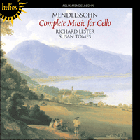 Cover of CDH55064 - Mendelssohn: Complete music for cello and piano