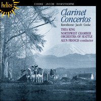 CDH55069 - Cooke, Jacob & Rawsthorne: Clarinet Concertos