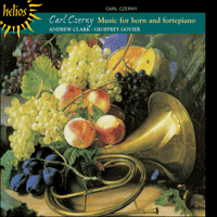 Cover of CDH55074 - Czerny: Music for horn and fortepiano