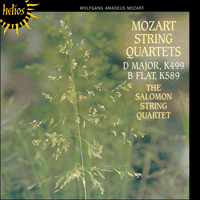 Cover of CDH55094 - Mozart: String Quartets K499 & 589