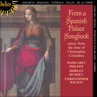 Cover of CDH55097 - From a Spanish Palace Songbook