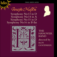 Cover of CDH55114 - Haydn: Symphonies Nos 13-16