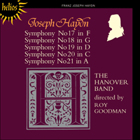 Cover of CDH55115 - Haydn: Symphonies Nos 17-21