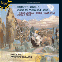 Cover of CDH55139 - Howells: Music for violin and piano