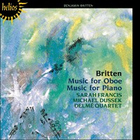 CDH55154 - Britten: Music for Oboe & Music for Piano