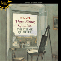 Cover of CDH55166 - Hummel: String Quartets
