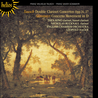 Cover of CDH55188 - Tausch: Double Clarinet Concertos; S�ssmayr: Concerto movement