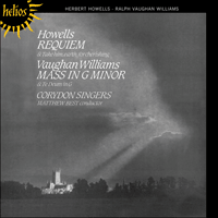 Cover of CDH55220 - Howells: Requiem; Vaughan Williams: Mass in G minor
