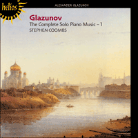 Cover of CDH55221 - Glazunov: The Complete Solo Piano Music, Vol. 1