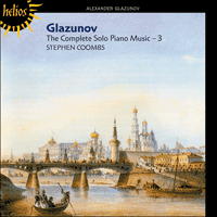 Cover of CDH55223 - Glazunov: The Complete Solo Piano Music, Vol. 3