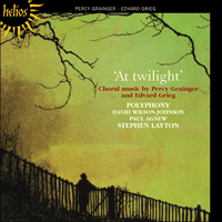 Cover of CDH55236 - Grainger & Grieg: At twilight