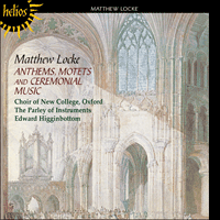 Cover of CDH55250 - Locke: Anthems, Motets and Ceremonial Music