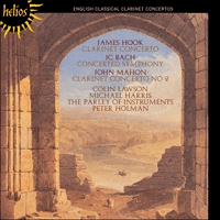 Cover of CDH55261 - English Classical Clarinet Concertos