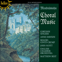 Cover of CDH55268 - Mendelssohn: Choral Music