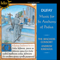 Cover of CDH55271 - Dufay: Music for St Anthony of Padua