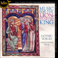 Cover of CDH55292 - Music for the Lion-Hearted King