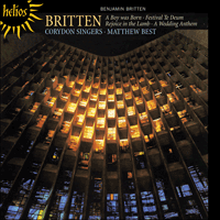 Cover of CDH55307 - Britten: A Boy was Born & other choral works