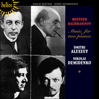 Cover of CDH55337 - Medtner: Music for two pianos
