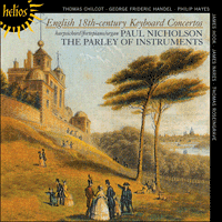 Cover of CDH55341 - English 18th-century Keyboard Concertos