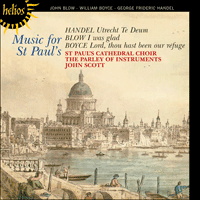 Cover of CDH55359 - Blow, Boyce & Handel: Music for St Paul's