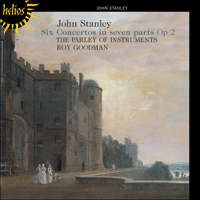 Cover of CDH55361 - Stanley: Six Concertos in seven parts