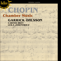 Cover of CDH55384 - Chopin: Chamber Music