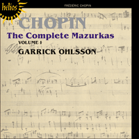 Cover of CDH55391 - Chopin: The Complete Mazurkas, Vol. 1