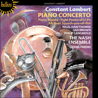 Cover of CDH55397 - Lambert: Piano Concerto & other works