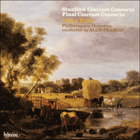 Cover of CDA66001 - Finzi & Stanford: Clarinet Concertos