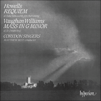 Cover of CDA66076 - Howells: Requiem; Vaughan Williams: Mass in G minor