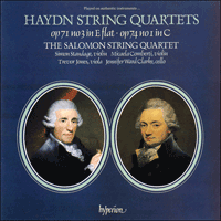 Cover of CDA66098 - Haydn: String Quartets Opp 71/3 & 74/1