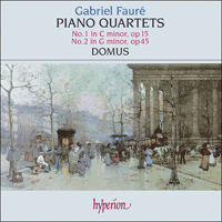 Cover of CDA66166 - Faur�: Piano Quartets
