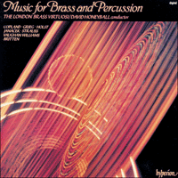 Cover of CDA66189 - Music for Brass & Percussion