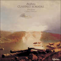 Cover of CDA66202 - Brahms: Clarinet Sonatas