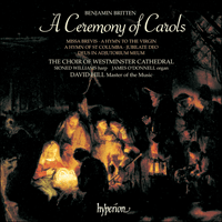 Cover of CDA66220 - Britten: A Ceremony of Carols