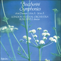 Cover of CDA66236 - Boccherini: Symphonies Nos 6, 8 & 14