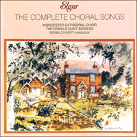 Cover of CDA66271/2 - Elgar: The Complete Choral Songs