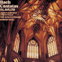 Cover of CDA66326 - Bach: Cantatas Nos 54, 169 & 170