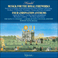 Cover of CDA66350 - Handel: Fireworks Music & Coronation Anthems