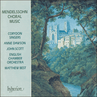 Cover of CDA66359 - Mendelssohn: Choral Music