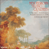 Cover of CDA66397 - Mendelssohn: String Quartets, Vol. 1